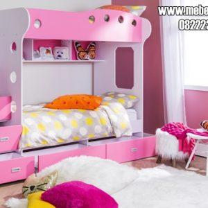 Tempat Tidur Tingkat Anak Perempuan Ping Putih
