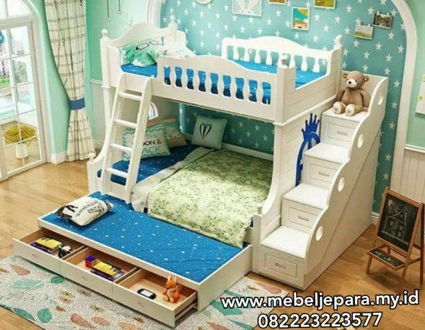 Tempat Tidur Anak Tingkat Minimalis Sorong