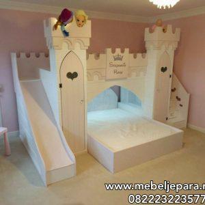 Tempat Tidur Perosotan Anak Karakter Istana