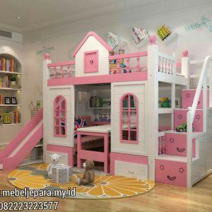 Tempat Tidur Anak Perempuan Model Perosotan