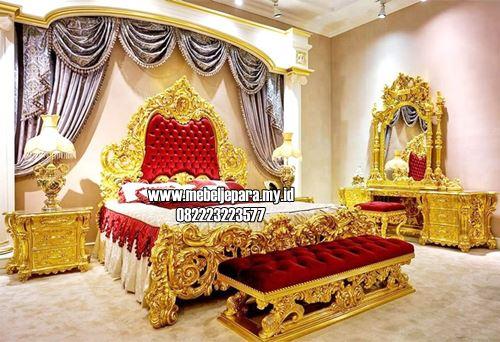 Kamar Tidur Mewah Warna Emas Bergaya Eropa