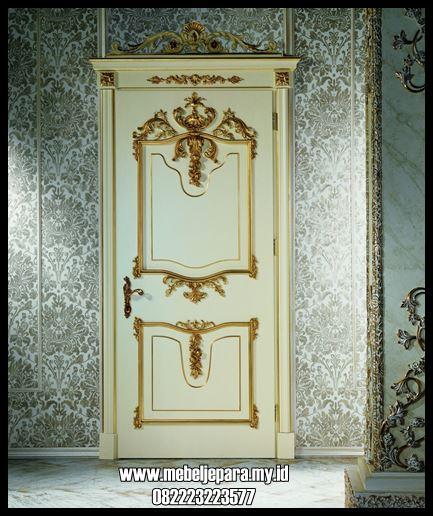 Pintu Kamar Tidur Mewah Ukiran Warna Gold
