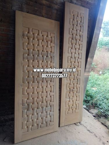 Pintu Minimalis 2020 Model Ukir Anyaman Tikar