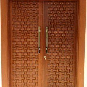 Pintu Utama Minimalis Motif Ukiran Tikar