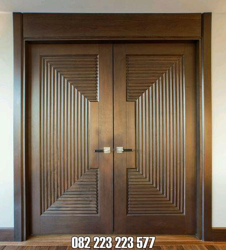 Model Pintu Utama Elegan Kayu Jati Kupu Tarung