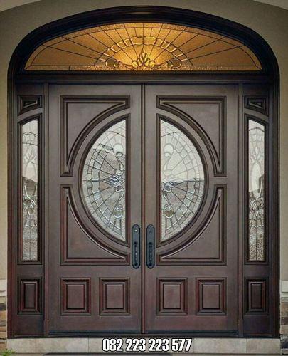 Pintu Jati Mewah Model Kupu Tarung Terbaru
