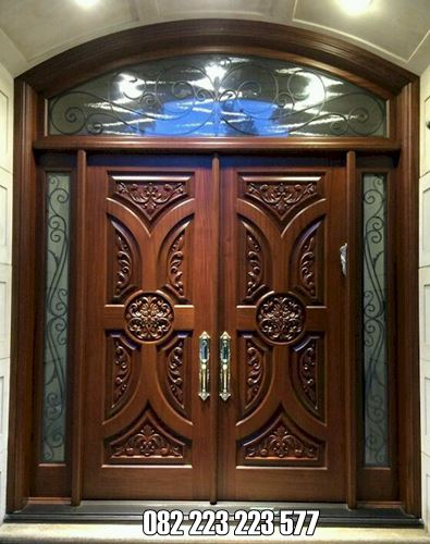 Pintu Model Lengkung Kupu Tarung Ukir Jepara