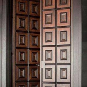 Pintu Rumah Minimalis Kupu Tarung Kayu Jati
