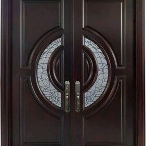 Pintu Utama Dua Daun Minimalis Kayu Jati