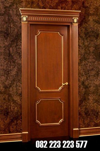 Pintu Kamar Elegan Kayu Jati Model Minimalis