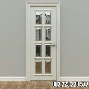 Pintu Kamar Kaca Tengah Minimalis Cat Duco