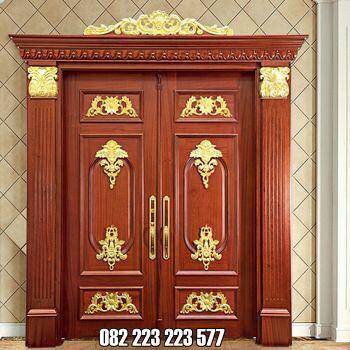 Pintu Rumah Jati Ukiran Jepara Bergaya Klasik
