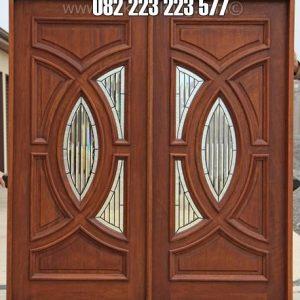 Daun Pintu Rumah Kupu Tarung Kayu Jati