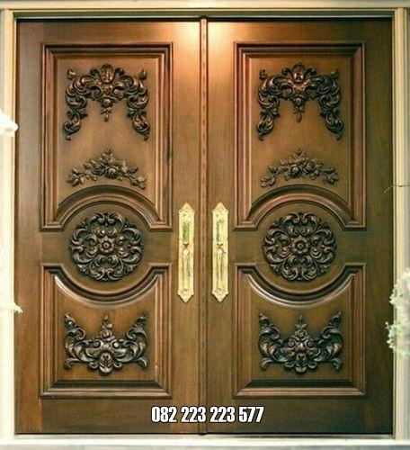 Pintu Rumah Klasik Ukir Mewah Kayu Jati