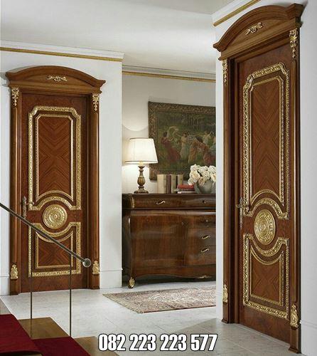 Model Pintu Kamar Klasik Ukir Jati Jepara