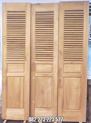 Pintu Garasi Minimalis Kayu Jati Harga Murah