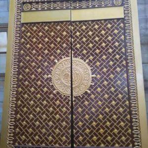 Pintu Masjid Minimalis Model Nabawi Kayu Jati
