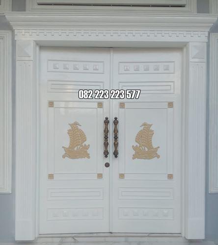Pintu Minimalis Mewah Ukir Klasik Cat Duco