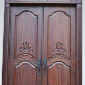 Gawang Pintu Kayu Jati Model Dua Daun Ukir Jepara