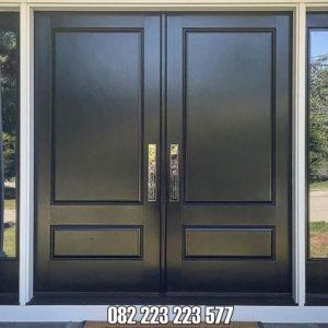 Kusen Pintu Minimalis Model Jendela Kanan Kiri