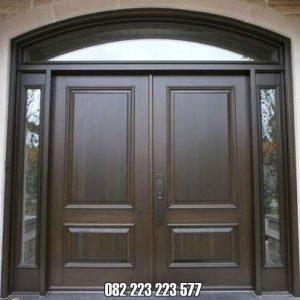 Pintu Jendela Kaca Rumah Minimalis Kayu Jati Model Gendong