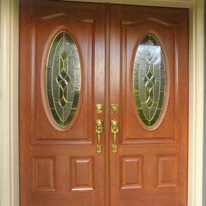 Pintu Kupu Tarung Jati Minimalis Modern