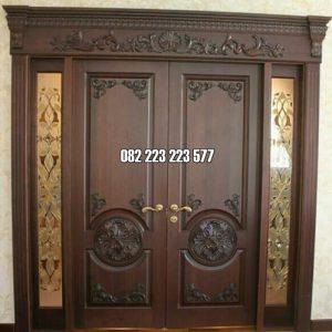 Pintu Kupu Tarung Klasik Kusen Utama Rumah