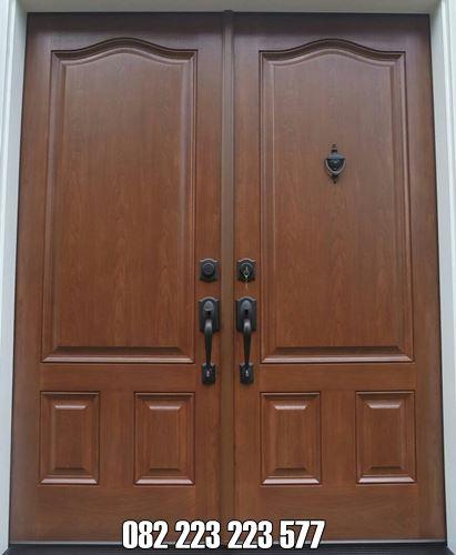 Pintu Rumah Murah Kayu Jati Minimalis