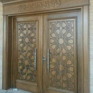 Pintu Utama Masjid Kayu Jati Minimalis Modern