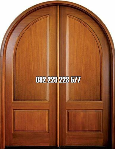 Kusen Pintu Lengkung Daun Minimalis Kayu Jati