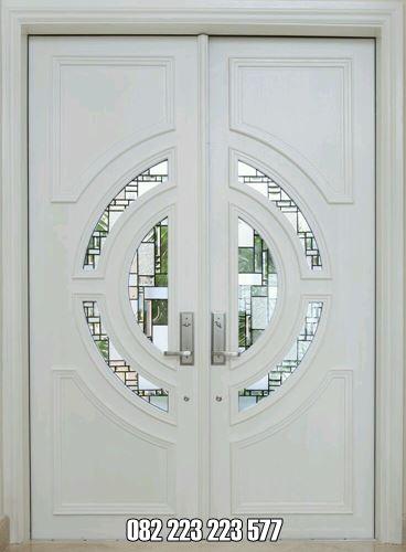 Kusen Pintu Rumah Minimalis Mewah Cat Duco Putih