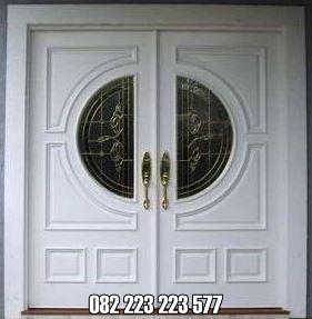 Pintu Kupu Tarung Minimalis Mewah Cat Duco Putih