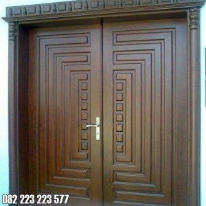 Pintu Rumah Minimalis Modern Kayu Jati Jepara