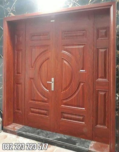 Kusen Pintu Rumah Depan Kupu Tarung Jati Minimalis
