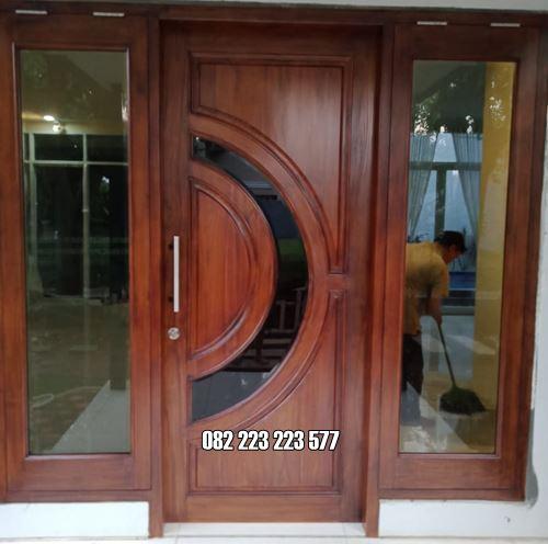 Model Kusen Pintu Utama Minimalis Satu Daun Kayu Jati