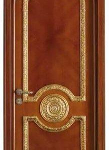 Pintu Kamar Rumah Mewah Ukiran Jepara Warna Gold