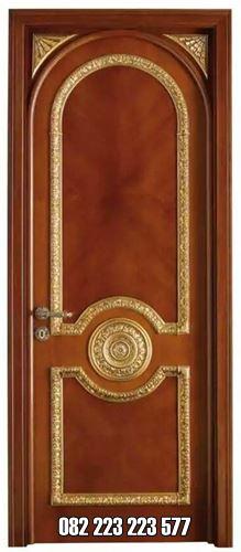 Gold Color Jepara Carved Luxury Home Room Door