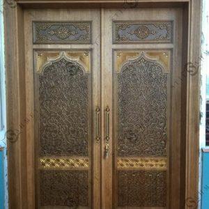 Pintu Masjid Ukir Jati Jepara Model Kupu Tarung