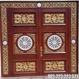 Pintu Utama Ukir Mewah Model Klasik Jati Jepara
