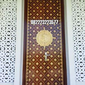 Pintu Masjid Jati Model Nabawi Minimalis Ukir Jepara
