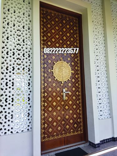 Pintu Mushola Minimalis Kayu Jati
