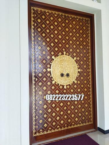 Pintu Utama Masjid Ukir Jepara Replika Nabawi