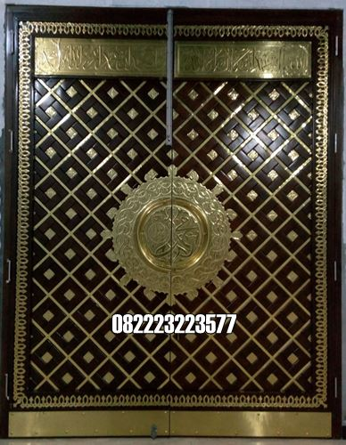 Pintu Nabawi Kuningan Kayu Jati Untuk Masjid Terbaru